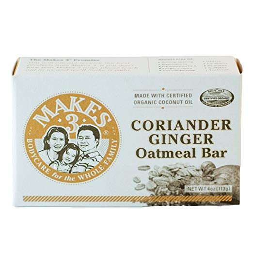 Makes 3 Organics Oatmeal Organic Bar Soap